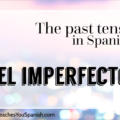 The Past Tense in Spanish: EL IMPERFECTO
