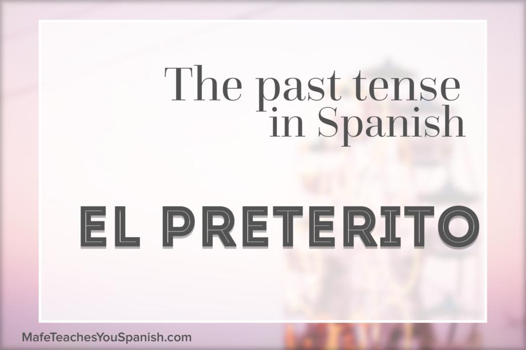 preterito español preterite