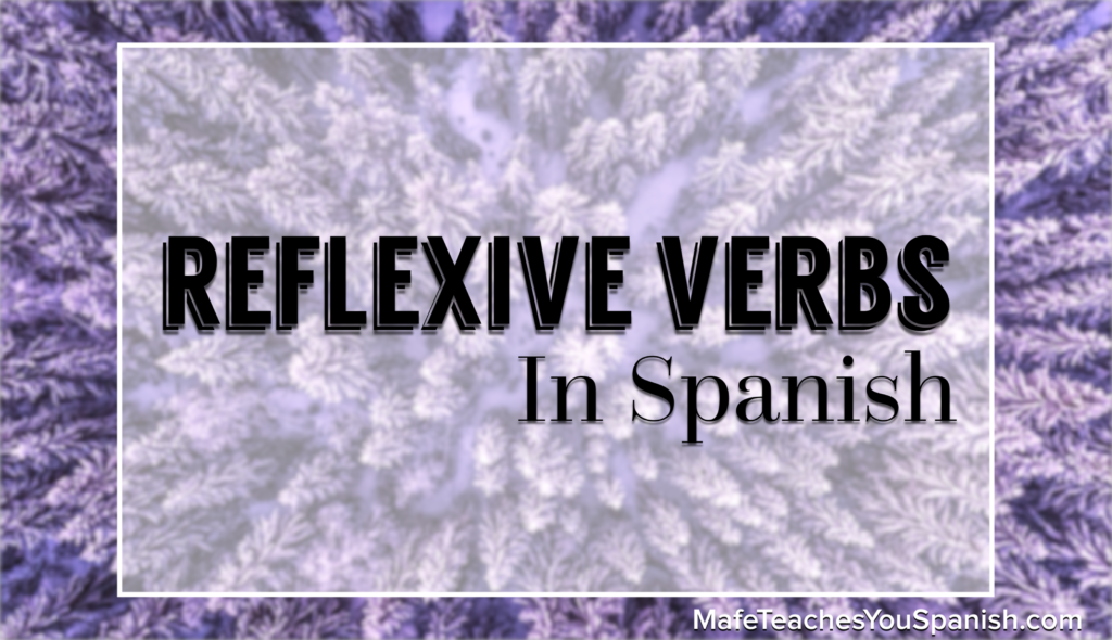 reflexive verbs in spanish